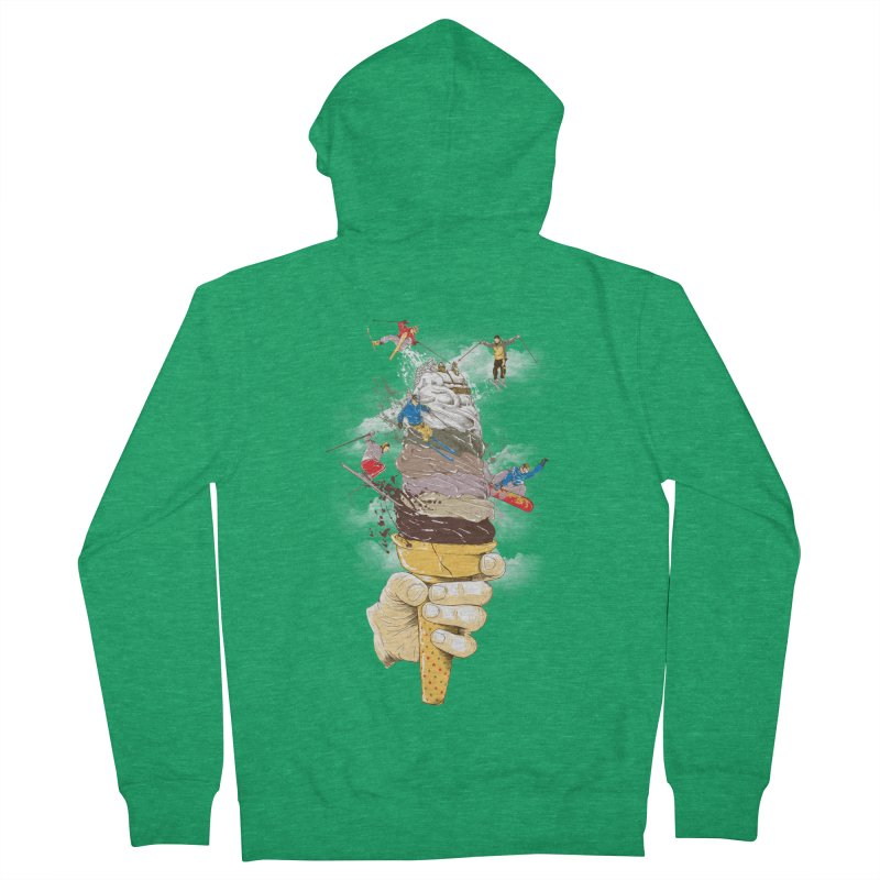 ice cream skate Women's Zip-Up Hoody by hd's Artist Shop