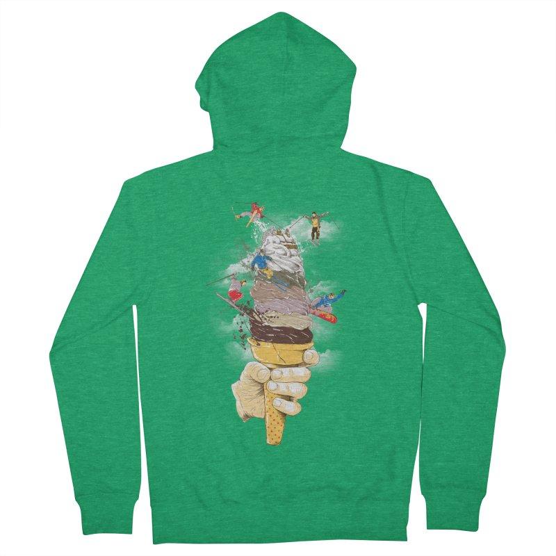 ice cream skate Men's Zip-Up Hoody by hd's Artist Shop