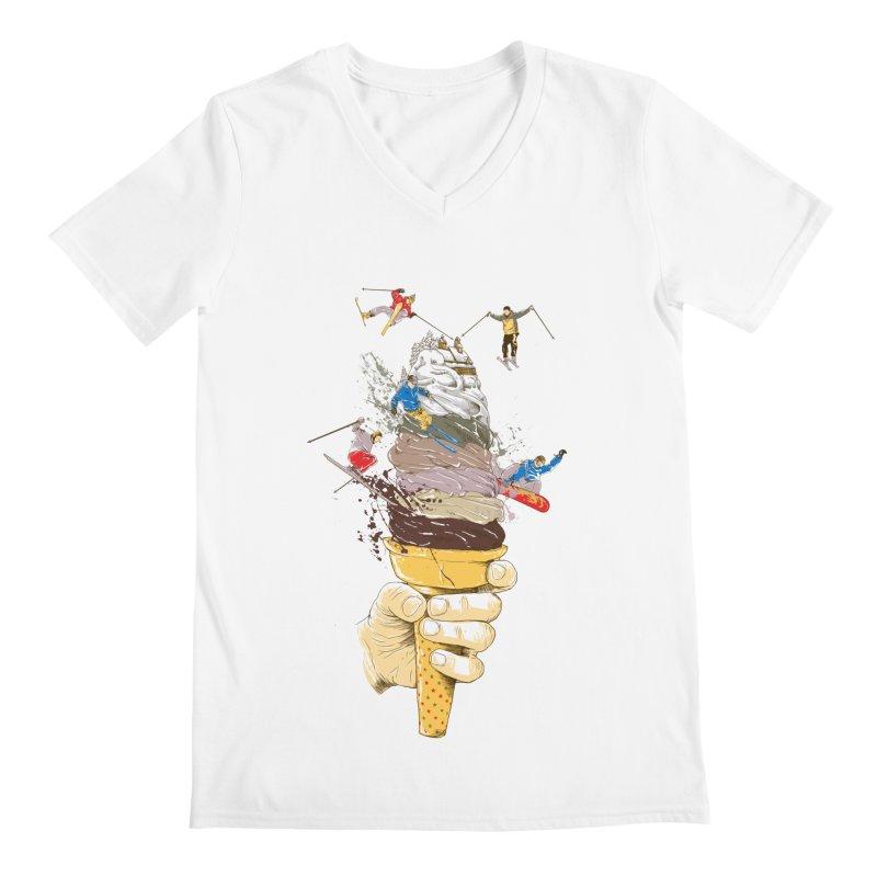 ice cream skate Men's V-Neck by hd's Artist Shop