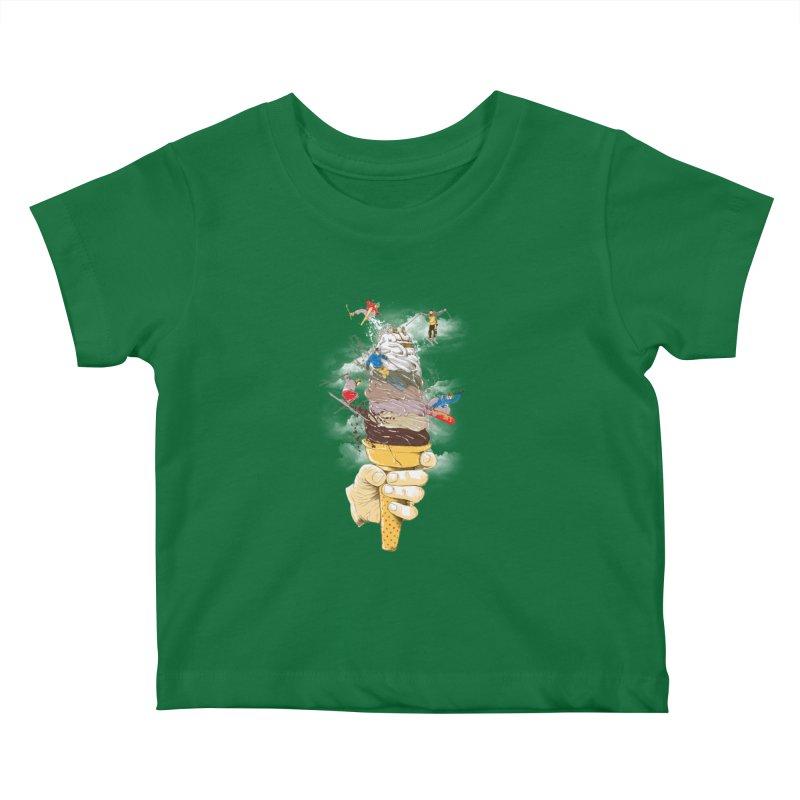 ice cream skate Kids Baby T-Shirt by hd's Artist Shop