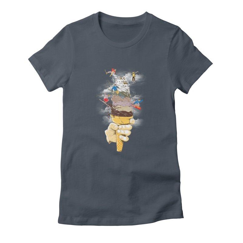 ice cream skate Women's T-Shirt by hd's Artist Shop