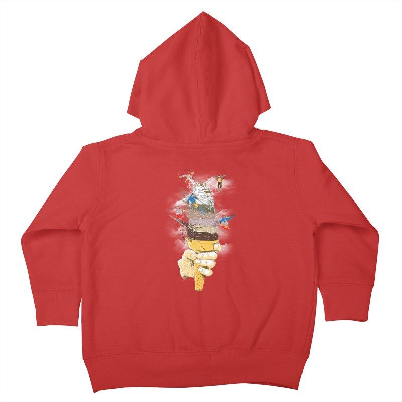 ice cream skate Kids Toddler Zip-Up Hoody by hd's Artist Shop