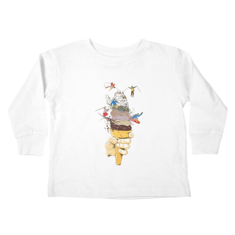 ice cream skate Kids Toddler Longsleeve T-Shirt by hd's Artist Shop