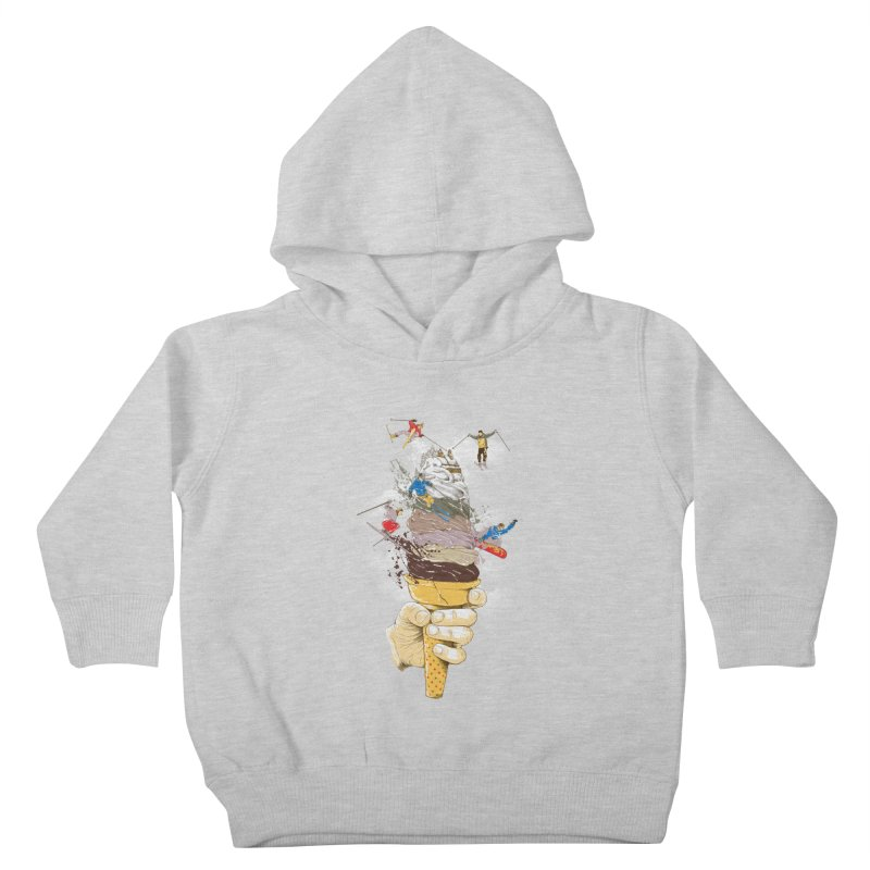 ice cream skate Kids Toddler Pullover Hoody by hd's Artist Shop