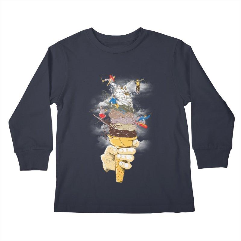 ice cream skate Kids Longsleeve T-Shirt by hd's Artist Shop