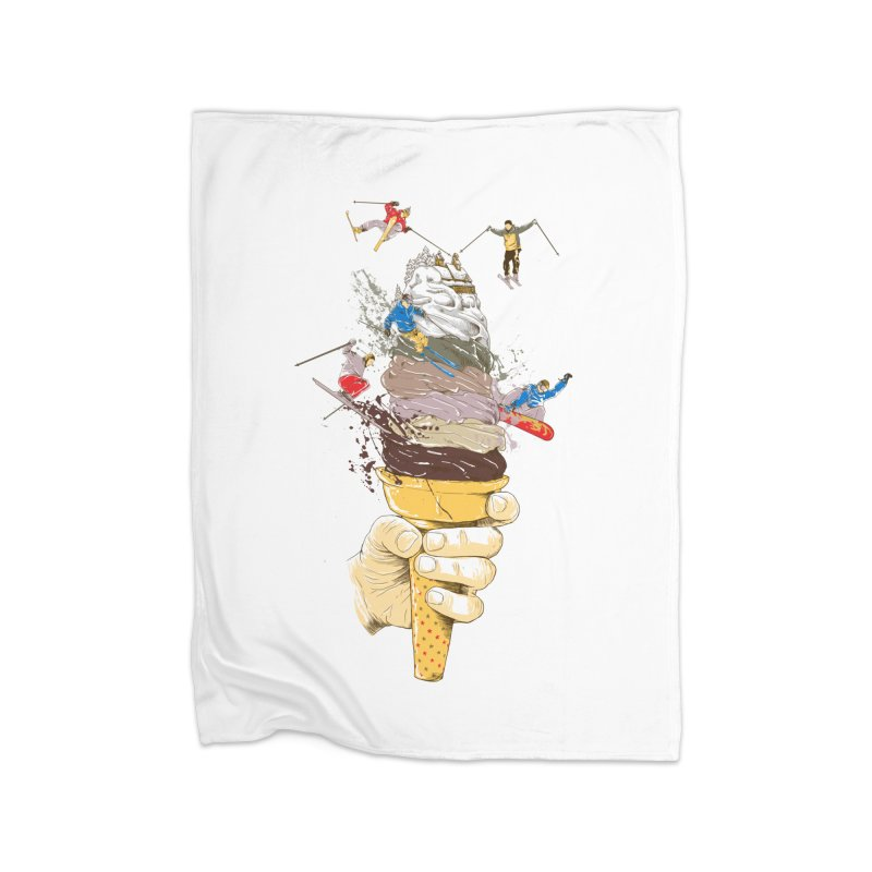 ice cream skate Home Blanket by hd's Artist Shop