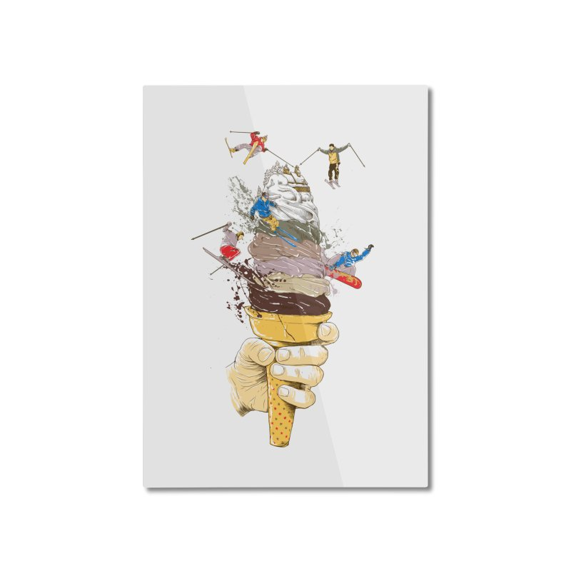 ice cream skate Home Mounted Aluminum Print by hd's Artist Shop