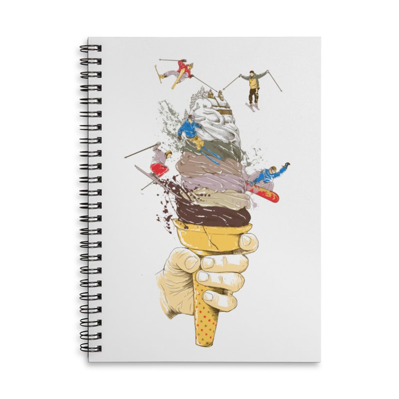ice cream skate Accessories Notebook by hd's Artist Shop