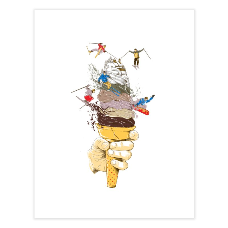 ice cream skate Home Fine Art Print by hd's Artist Shop