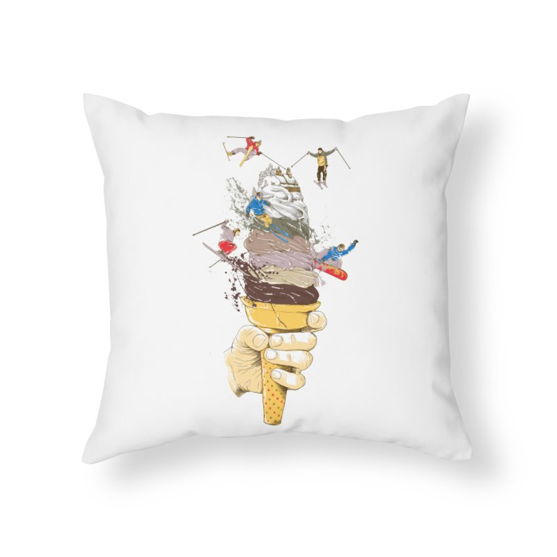 ice cream skate Home Throw Pillow by hd's Artist Shop