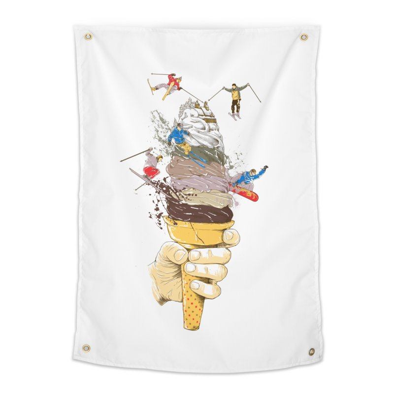 ice cream skate Home Tapestry by hd's Artist Shop