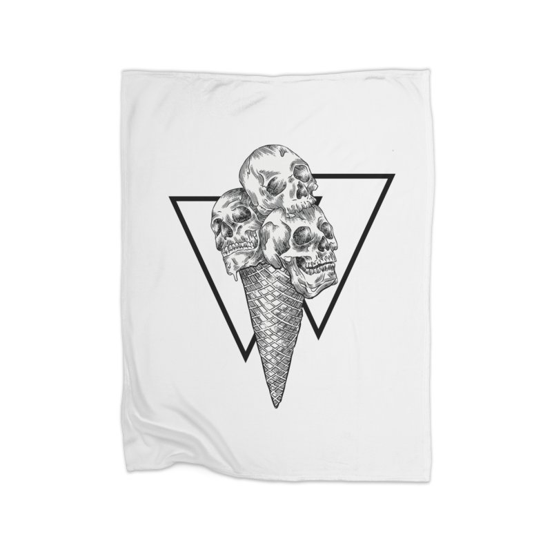 ice cream skulls Home Blanket by hd's Artist Shop