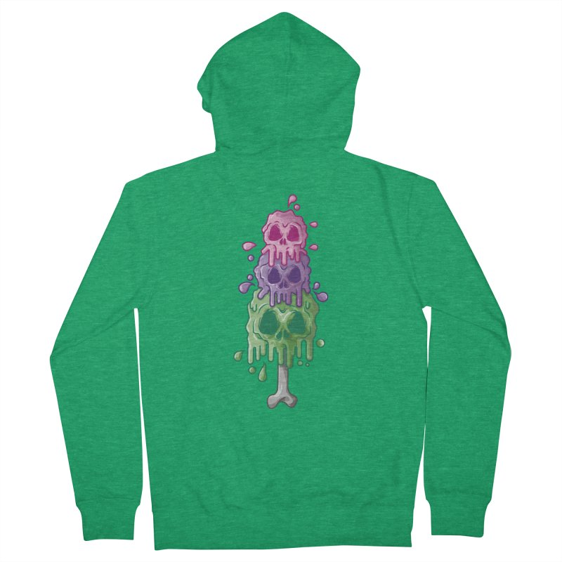 Ice Skull Women's Zip-Up Hoody by hd's Artist Shop
