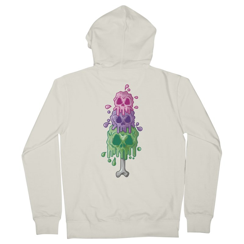 Ice Skull Men's Zip-Up Hoody by hd's Artist Shop