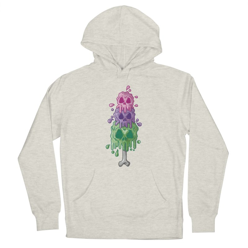 Ice Skull Men's Pullover Hoody by hd's Artist Shop
