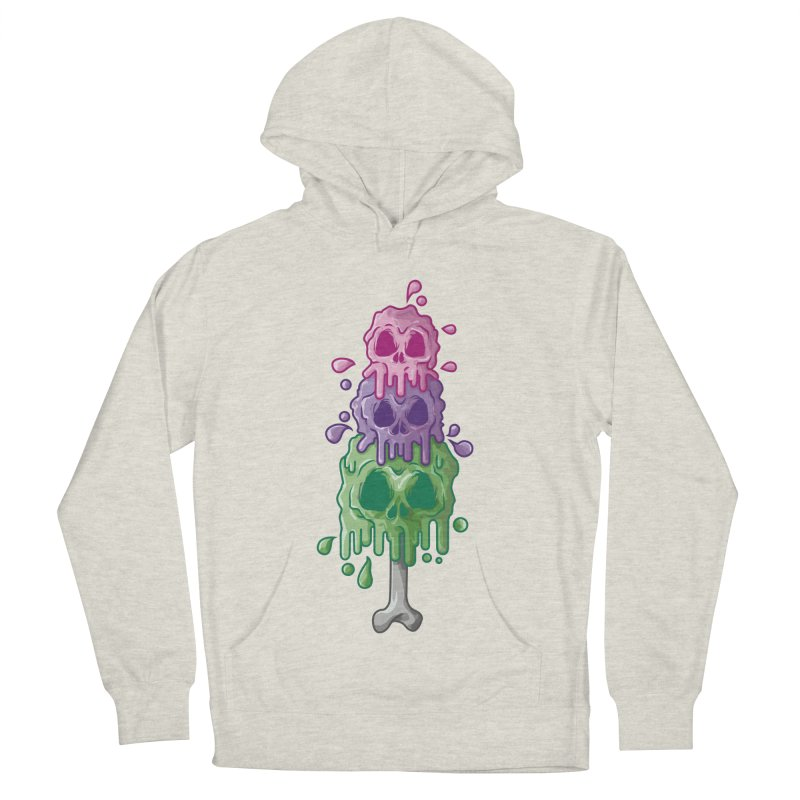 Ice Skull Women's French Terry Pullover Hoody by hd's Artist Shop