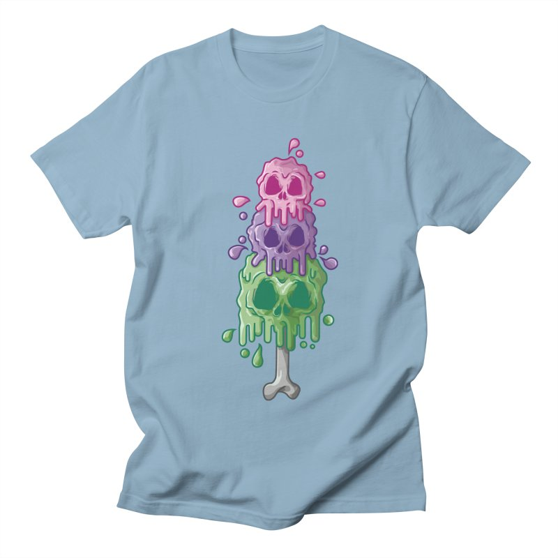 Ice Skull Men's Regular T-Shirt by hd's Artist Shop