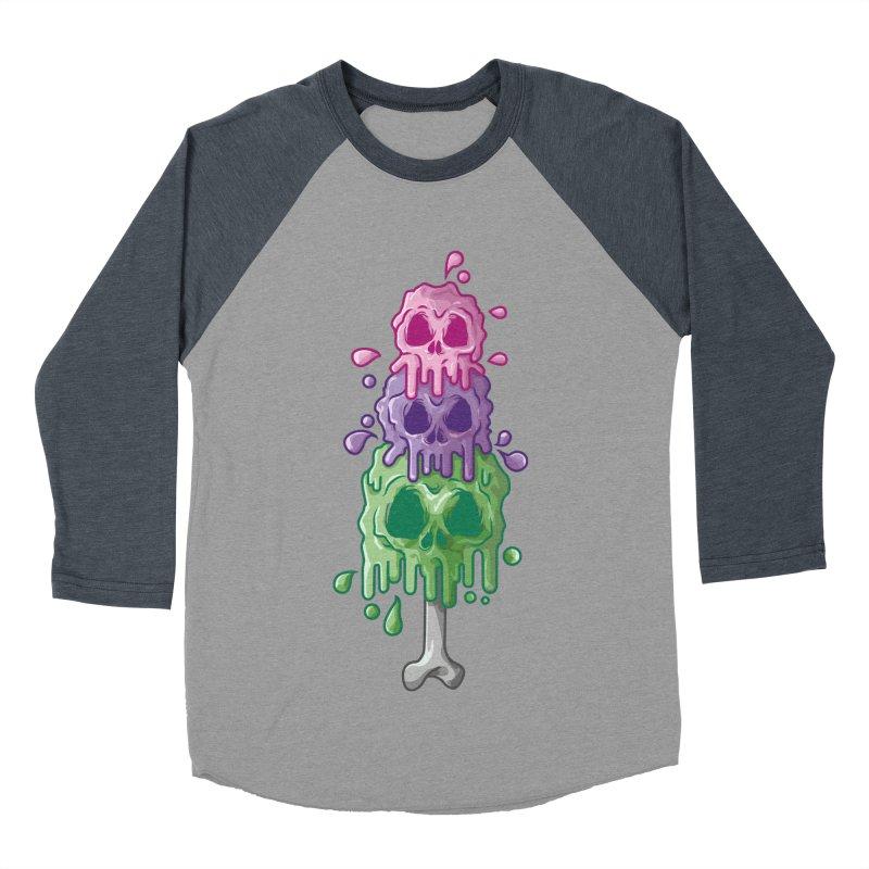 Ice Skull Men's Baseball Triblend Longsleeve T-Shirt by hd's Artist Shop