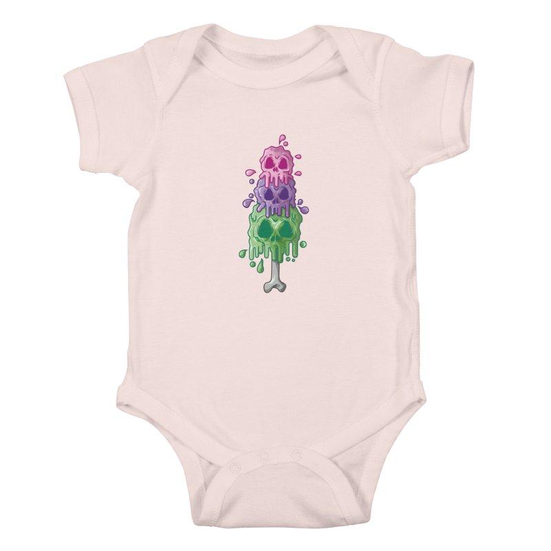 Ice Skull Kids Baby Bodysuit by hd's Artist Shop