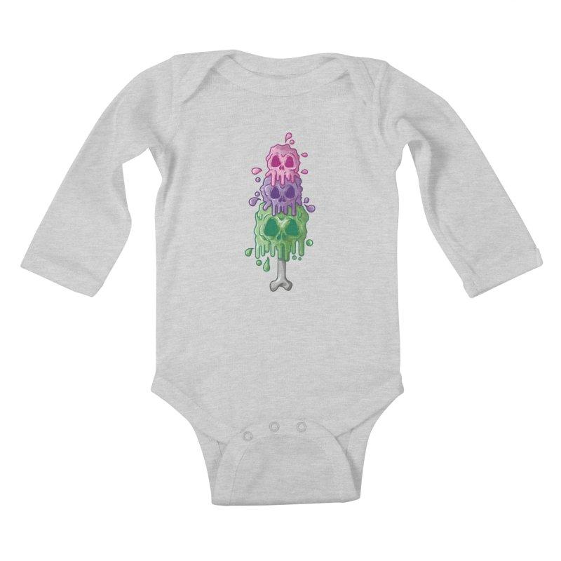 Ice Skull Kids Baby Longsleeve Bodysuit by hd's Artist Shop