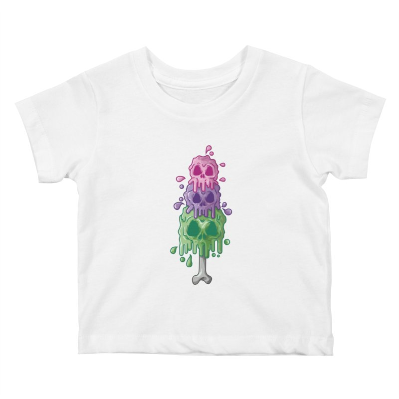 Ice Skull Kids Baby T-Shirt by hd's Artist Shop