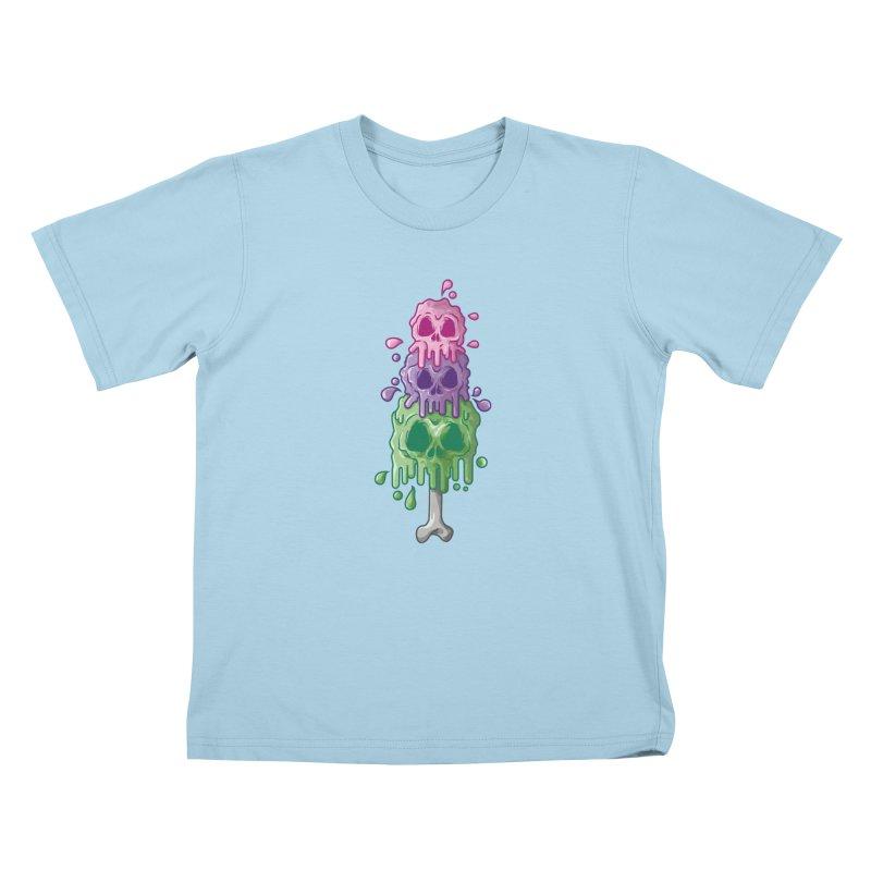 Ice Skull Kids T-Shirt by hd's Artist Shop