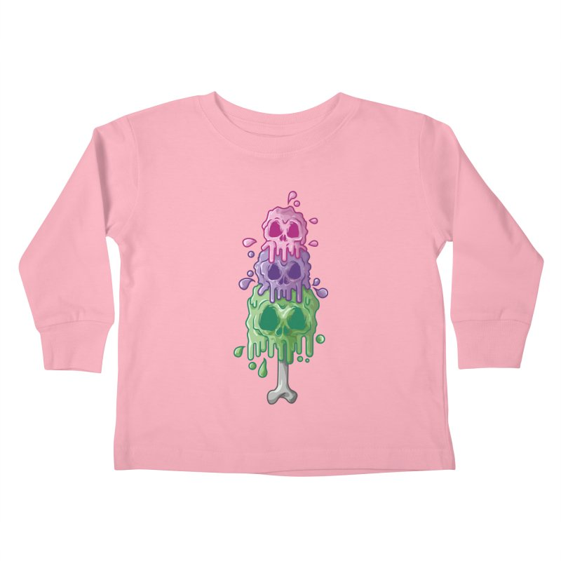 Ice Skull Kids Toddler Longsleeve T-Shirt by hd's Artist Shop