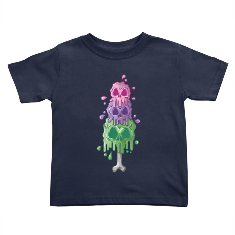 Ice Skull Kids Toddler T-Shirt by hd's Artist Shop