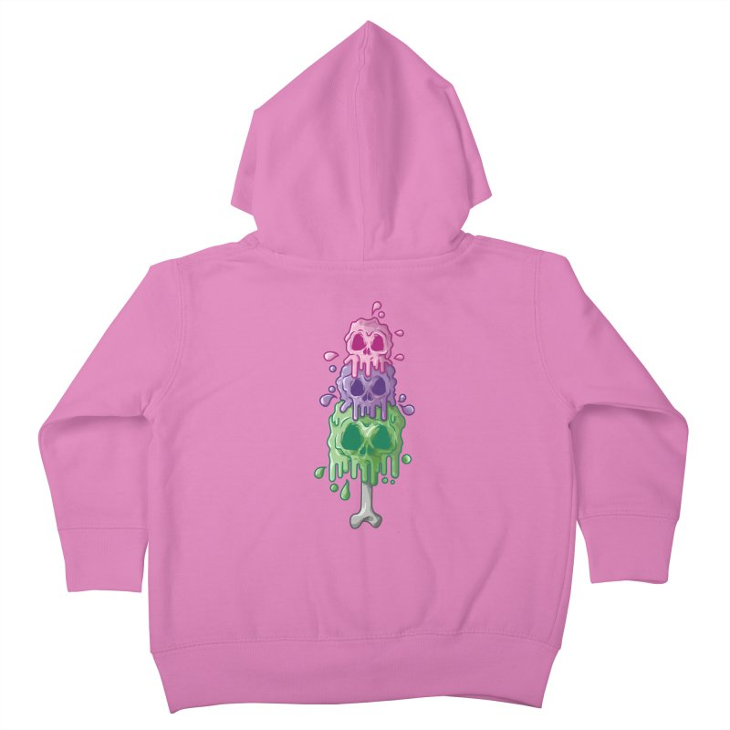 Ice Skull Kids Toddler Zip-Up Hoody by hd's Artist Shop