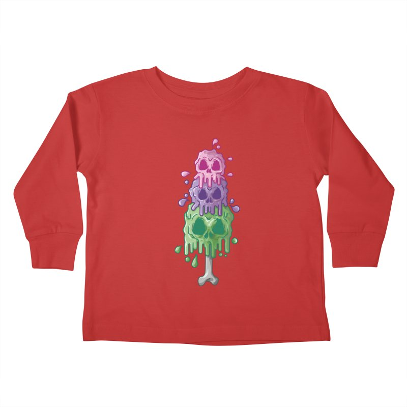 Ice Skull Kids Toddler Longsleeve T-Shirt by hd's Artist Shop