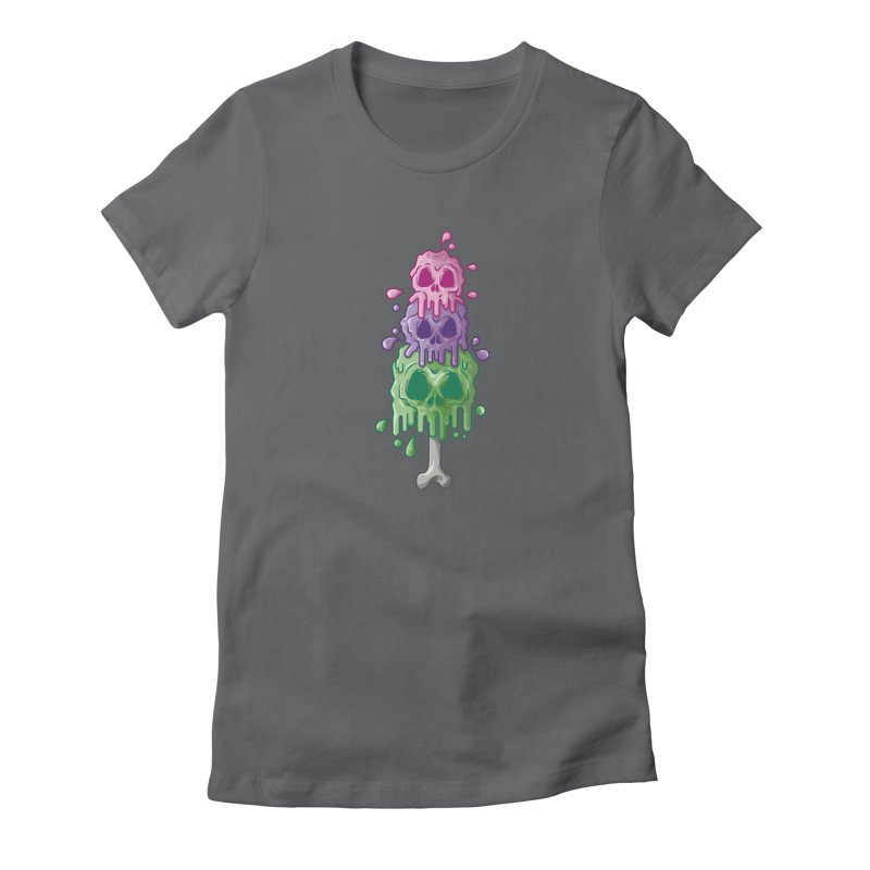 Ice Skull Women's T-Shirt by hd's Artist Shop