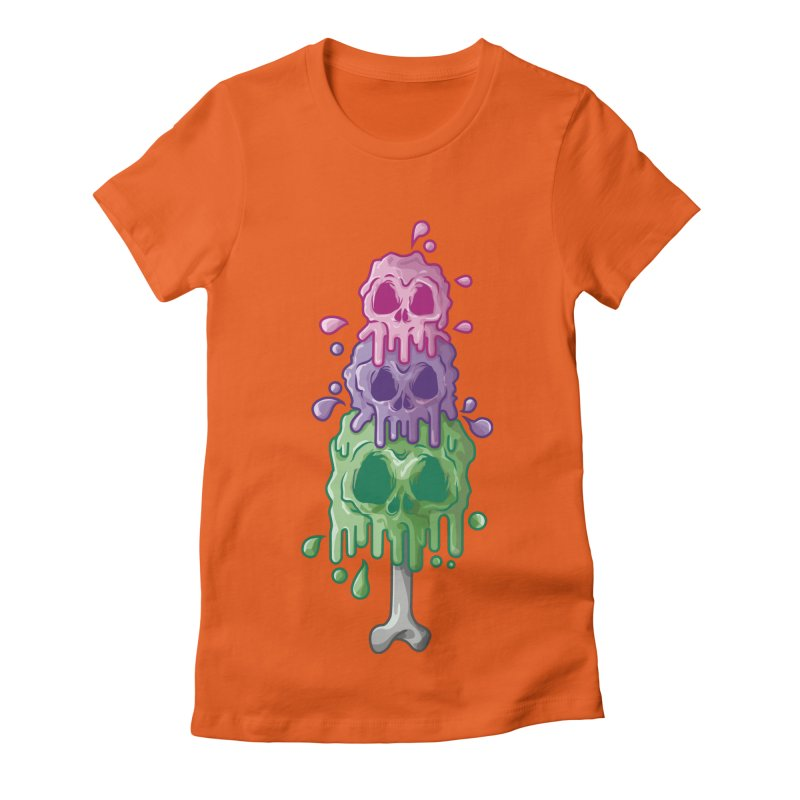 Ice Skull Women's Fitted T-Shirt by hd's Artist Shop