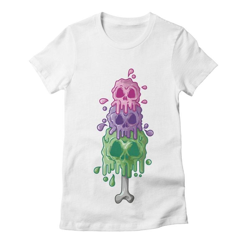 Ice Skull Women's T-Shirt by hd's Artist Shop