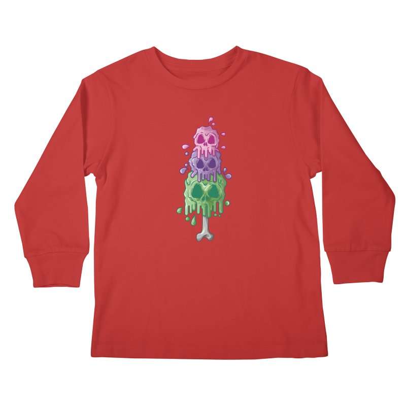 Ice Skull Kids Longsleeve T-Shirt by hd's Artist Shop
