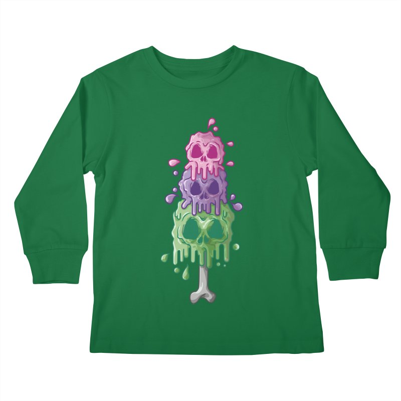 Ice Skull Kids Longsleeve T-Shirt by hd's Artist Shop