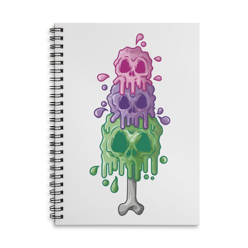 Ice Skull Accessories Notebook by hd's Artist Shop