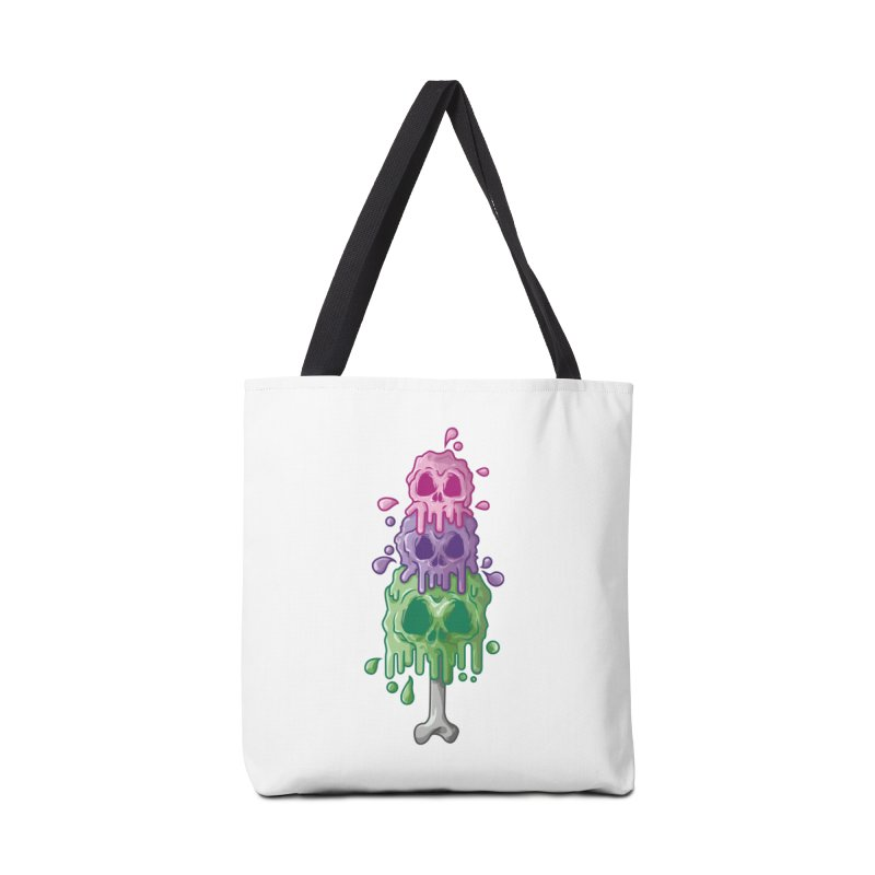 Ice Skull Accessories Tote Bag Bag by hd's Artist Shop