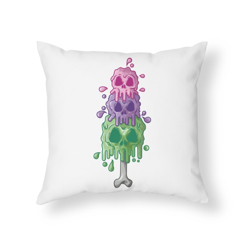 Ice Skull Home Throw Pillow by hd's Artist Shop