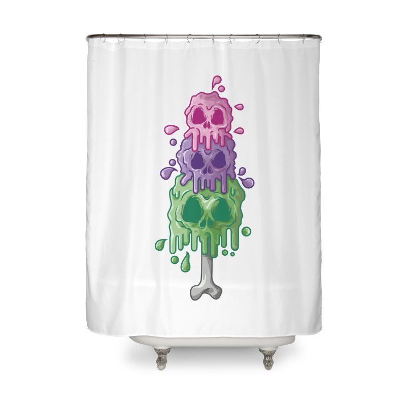 Ice Skull Home Shower Curtain by hd's Artist Shop