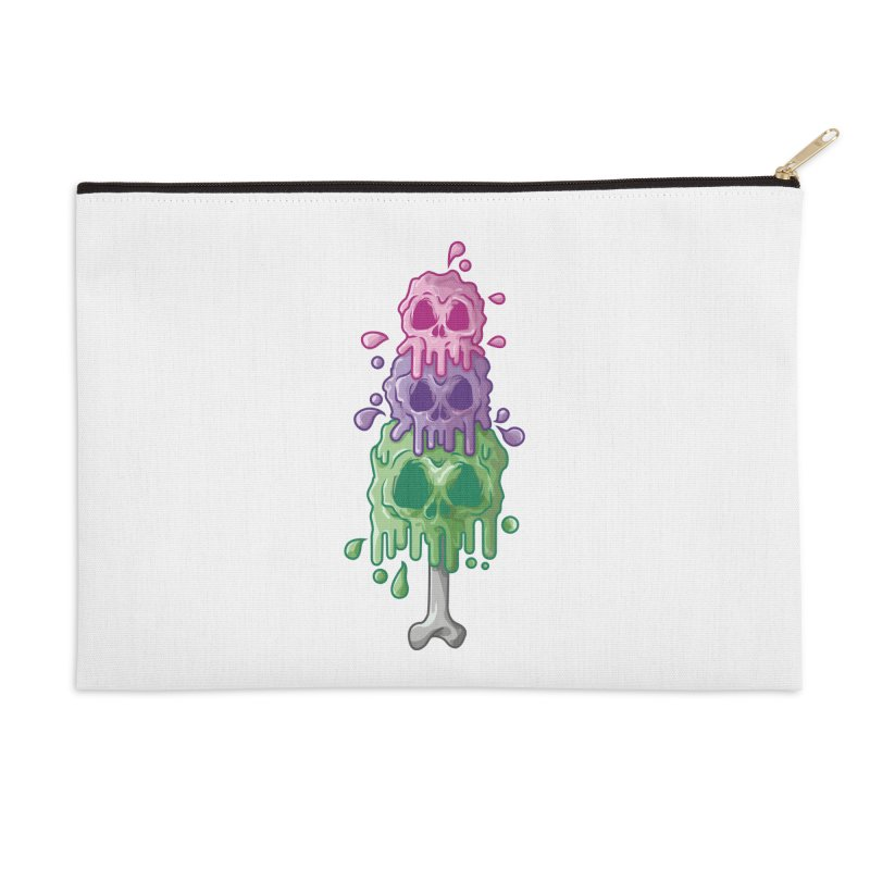 Ice Skull Accessories Zip Pouch by hd's Artist Shop
