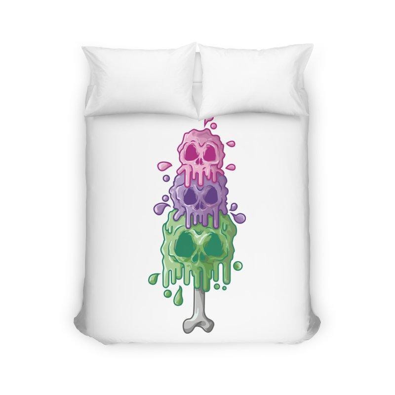 Ice Skull Home Duvet by hd's Artist Shop