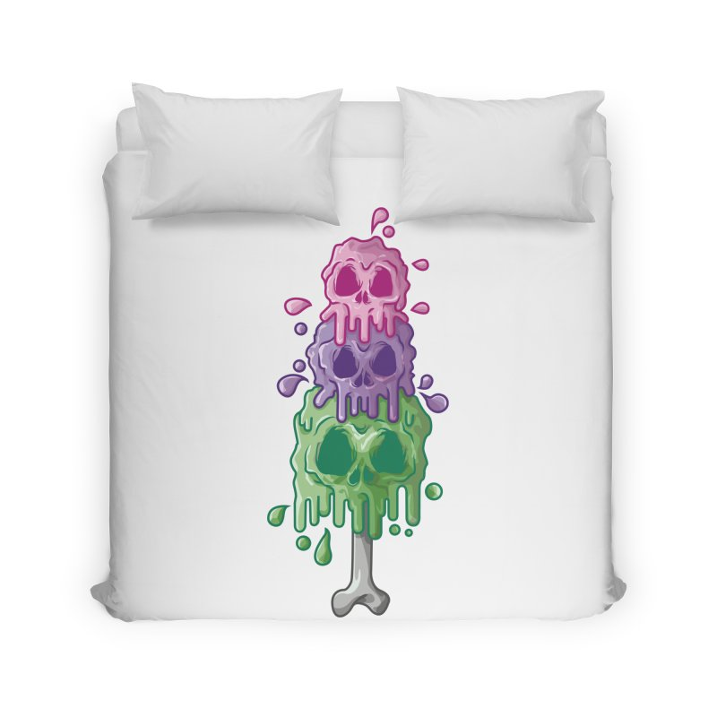 Ice Skull Home Duvet by hd's Artist Shop