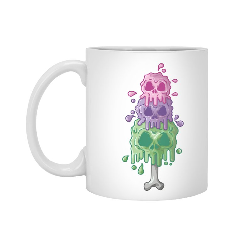 Ice Skull Accessories Standard Mug by hd's Artist Shop