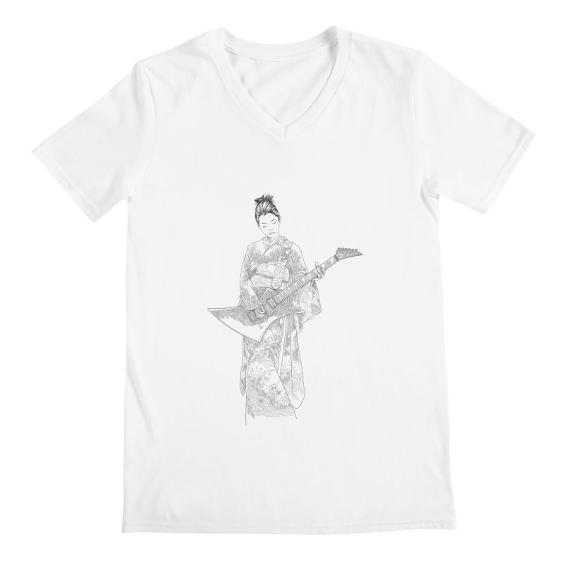 japanese rockstar Men's V-Neck by hd's Artist Shop