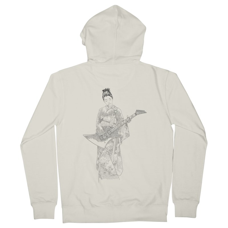 japanese rockstar Women's French Terry Zip-Up Hoody by hd's Artist Shop