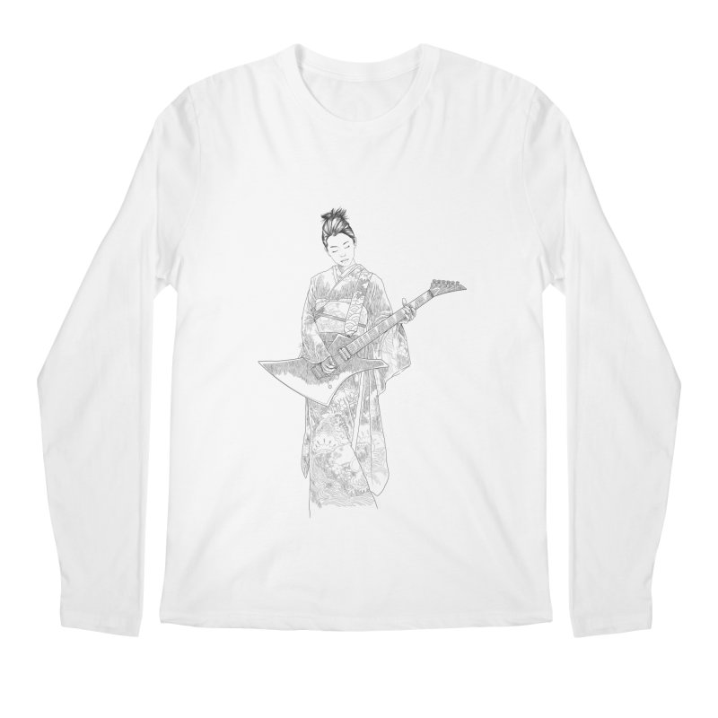 japanese rockstar Men's Regular Longsleeve T-Shirt by hd's Artist Shop