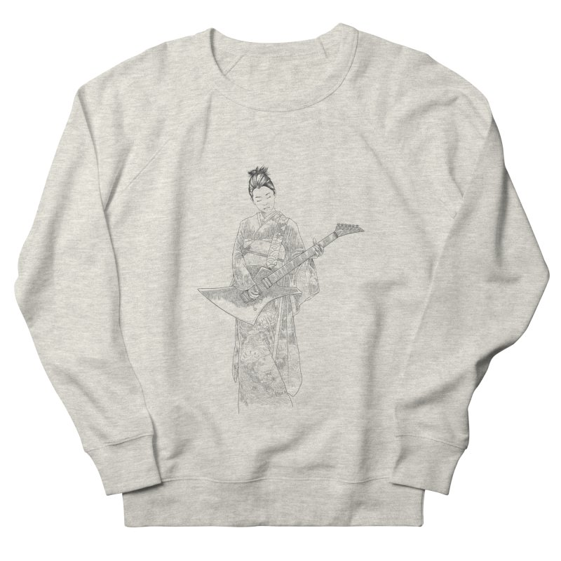 japanese rockstar Men's French Terry Sweatshirt by hd's Artist Shop