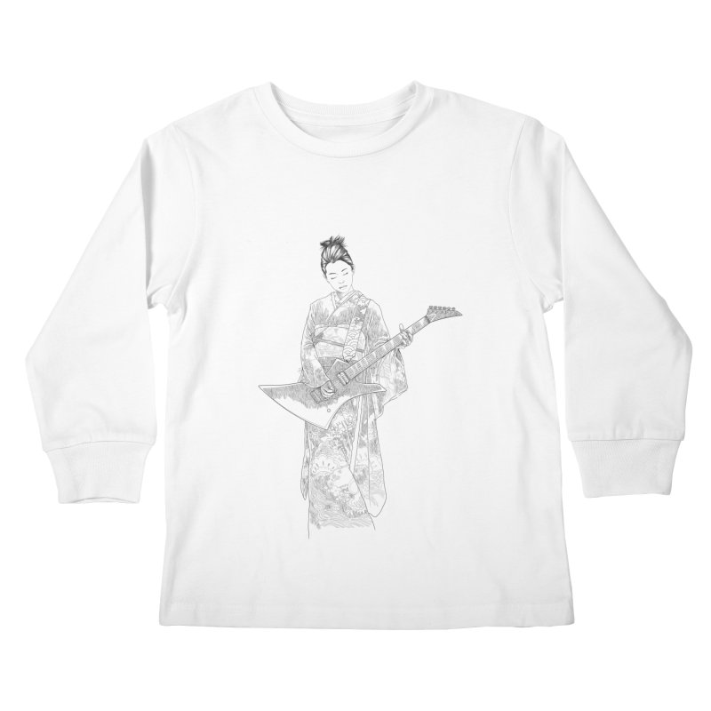 japanese rockstar Kids Longsleeve T-Shirt by hd's Artist Shop