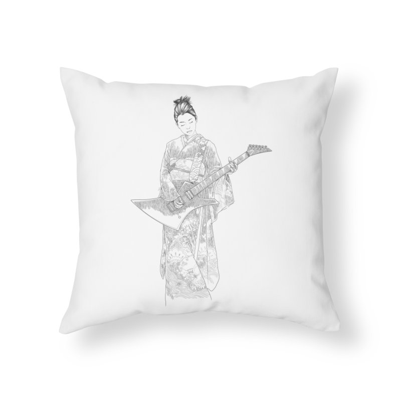 japanese rockstar Home Throw Pillow by hd's Artist Shop