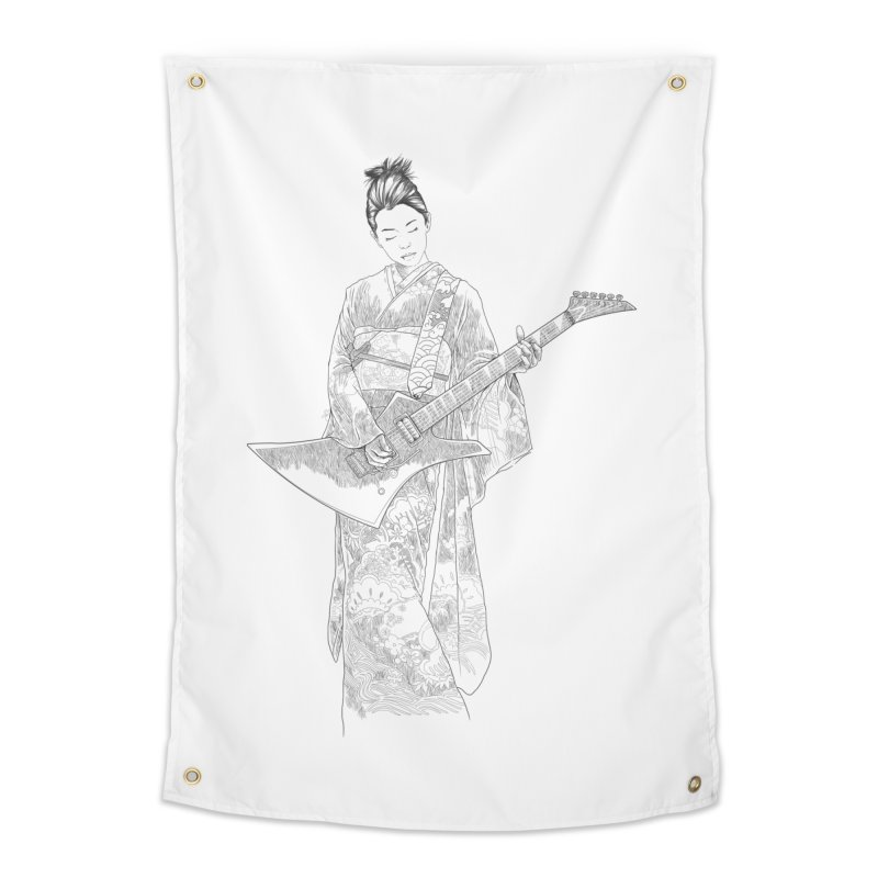japanese rockstar Home Tapestry by hd's Artist Shop